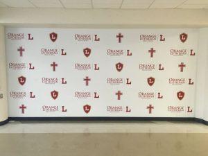 Jacksonville Church Signs custom wall vinyl step repeat mural 300x225